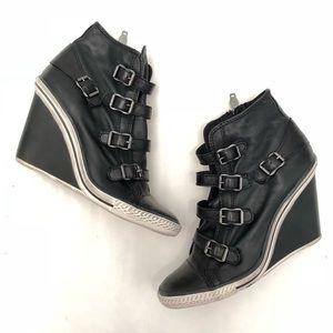 ASH Thelma Leather Wedges EUC 39
